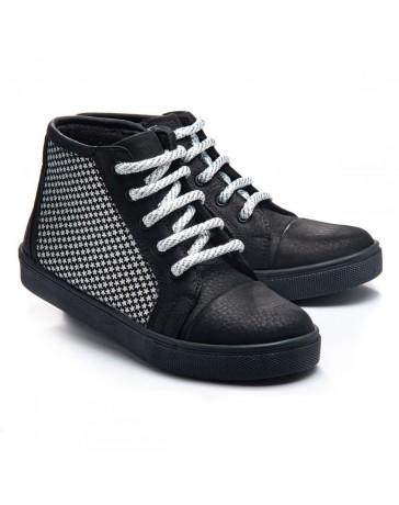 1. Ортопедические ботинки Theo Leo 776 р. 27-33 Черные