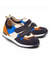 Ортопедические кроссовки Theo Leo 1143 р. 26-38 Синие с цветными вставками