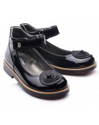 Ортопедические туфли Theo Leo 771 р. 28-35 Черный лак
