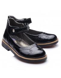 Ортопедические туфли Theo Leo 748 р. 28-35 Черный лак
