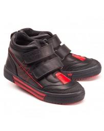 Ортопедические ботинки Theo Leo 1158 р. 25-40 Черные с красными вставками