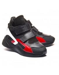 Ортопедические ботинки Theo Leo 1180 р. 26-40 Черные с красно-белыми вставками