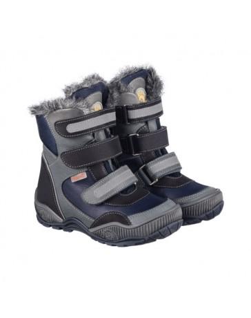 Зимние ботинки Memo Colorado, р. 22-34 (синие, с плоской стелькой)