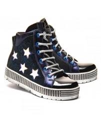 Ортопедические ботинки Theo Leo 1185 р. 26-36 Синие со звездами