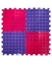 Акупунктурный массажный коврик «Лотос», 4 пазла