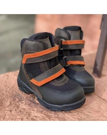 Зимние ботинки Minimen 15KOR20 р. 21-30 Черный с коричневым