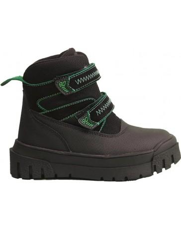 Зимние ботинки Minimen 12GREEN р. 26-30 Черный с зеленым
