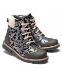 Ортопедические ботинки Theo Leo 1200 р. 26-33 Серо-черные