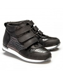 Ортопедические ботинки Theo Leo 1201 р. 26-40 Черные
