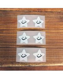 Термонаклейки на одежду (звезды-смайлики), 2,6х2,5 см
