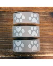 Термонаклейки на одежду (лапки-следы), 3,1х2,5 см