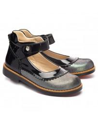 Ортопедические туфли Theo Leo 1240 р. 28-36 Черный лак