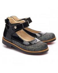 Ортопедические туфли Theo Leo 1241 р. 28-36 Черный лак