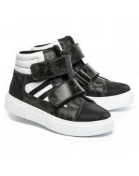 Ортопедические ботинки Theo Leo 1381 р. 26-40 Черно-белые