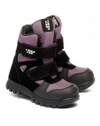 Зимние ботинки Theo Leo 1367 р. 26-34 Фиолетово-черные