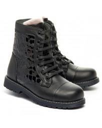 Зимние ботинки Theo Leo 1362 р. 26-40 Черные