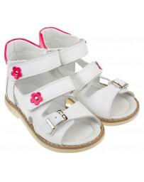 Босоножки «Алиса» для девочек, белые, детская ортопедическая обувь