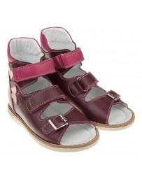 Босоножки «Хайди» для девочек, бордовые, детская ортопедическая обувь