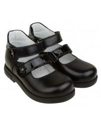 Школьные ортопедические туфли «Венди», черные