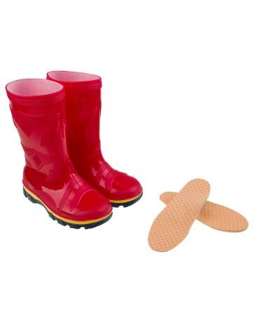 Комплект: Резиновые сапожки «Красные» + ортопедические стельки