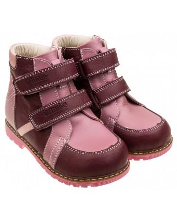 Ботинки 203 демисезонные на флисе для девочек, ортопедическая обувь для детей