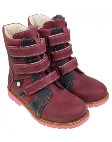 Ботинки 308  ортопедические, зимние для девочек