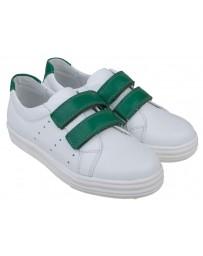 Кеды «Трейси» с зелеными липучками