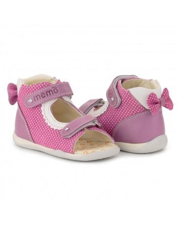 Детские ортопедические босоножки Memo Mini розовые