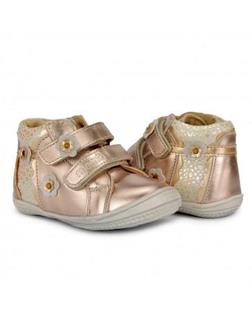 Детские ортопедические ботинки Memo Bella золотые