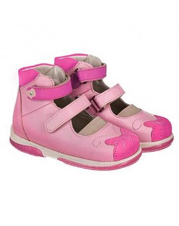 Ортопедические туфли для девочек Memo Princessa розовые