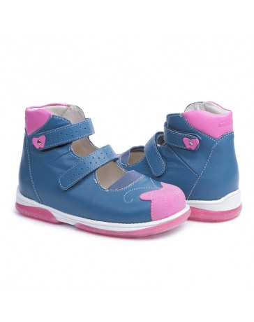 Ортопедические туфли для девочек Memo Princessa синие