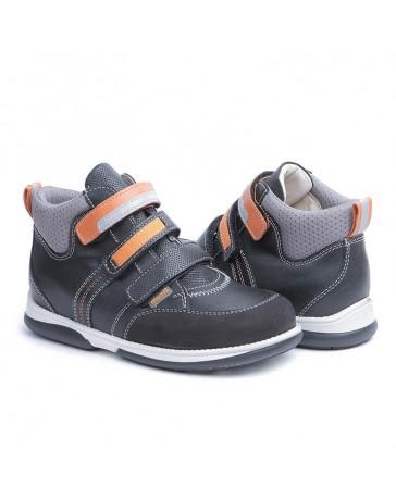 Ортопедические кроссовки для детей Memo Polo черно-оранжевые