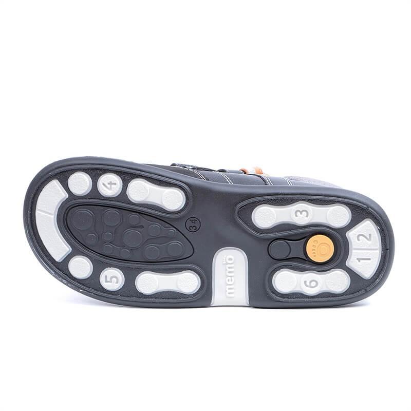 ... Ортопедические кроссовки для детей Memo Polo черно-оранжевые c8b9bf7f08c5c