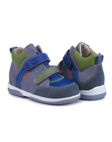 Ортопедические кроссовки для детей Memo Polo Junior серо-зелено-синие