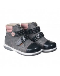 Детские ортопедические ботинки Memo Alvin коричневые, с плоской стелькой