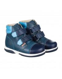 Детские ортопедические ботинки Memo Alex темно-синие, с плоской стелькой