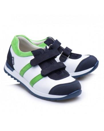 Ортопедические кроссовки Theo Leo RN865 р. 23-36 Бело-синие с зеленым