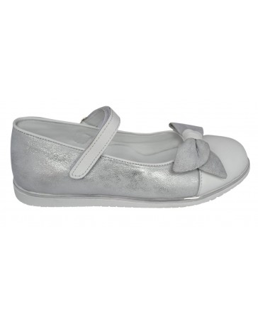 Ортопедические туфли Perlina 104BANT р. 31-36 Белый с серебром