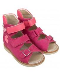 Ортопедические босоножки «Хайди» для девочек, розовый нубук