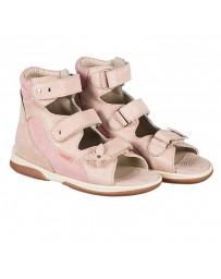 Детские ортопедические босоножки Memo Agnes розовые, с плоской стелькой