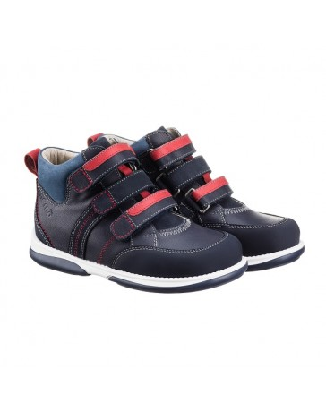 Ортопедические кроссовки для детей Memo Polo темно-синие, с плоской стелькой