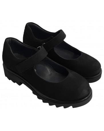 Ортопедические туфли Perlina 28PLATFNUBUK р. 31-36 Черный