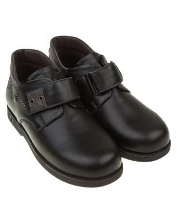Школьные ортопедические туфли «Питер», черные