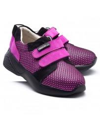 Ортопедические кроссовки Theo Leo RN941 р. 26-33 Черно-розовые