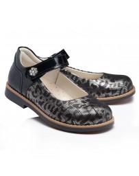 Ортопедические туфли Theo Leo RN969 р. 30-36 Черно-золотые