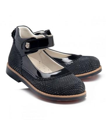 Ортопедические туфли Theo Leo RN962 р. 28-35 Черные