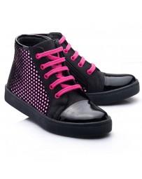 Ортопедические демисезонные ботинки Theo Leo RN813 р. 23-33 Черно-розовые