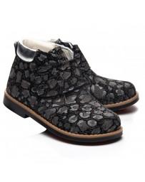 Ортопедические ботинки Theo Leo 995 р. 21-30 Черно-серые