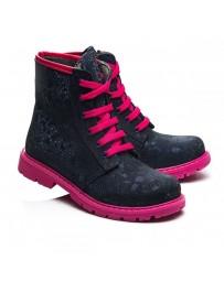 Ортопедические ботинки Theo Leo 992 р. 21-30 Синие с розовым