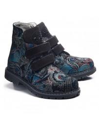 Ортопедические ботинки Theo Leo 1011 р. 31-36 Черно-синие